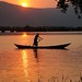 River Sunset Silhouette Kampot Cambodia
