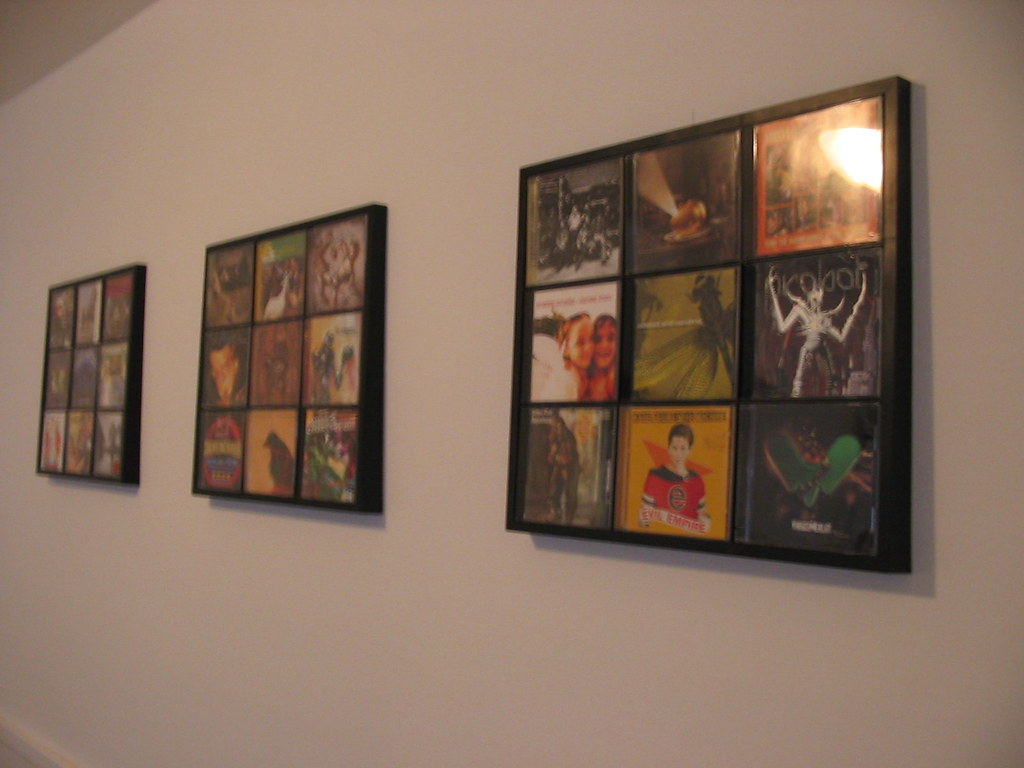 Cd wall display 4 i thought it would look pretty cool for Picture wall display