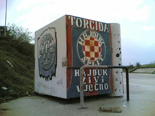 Kiosk outside Hajduk stadium | by hugovk