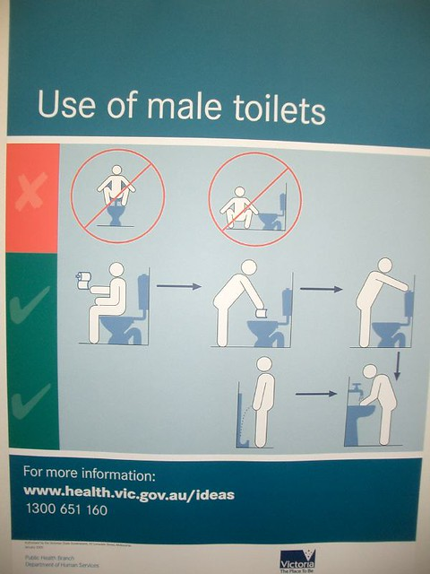 Use Of Male Toilets Use Of Male Toilets No Squatting