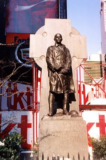 NYC: Duffy Square - Father Duffy Statue | by wallyg