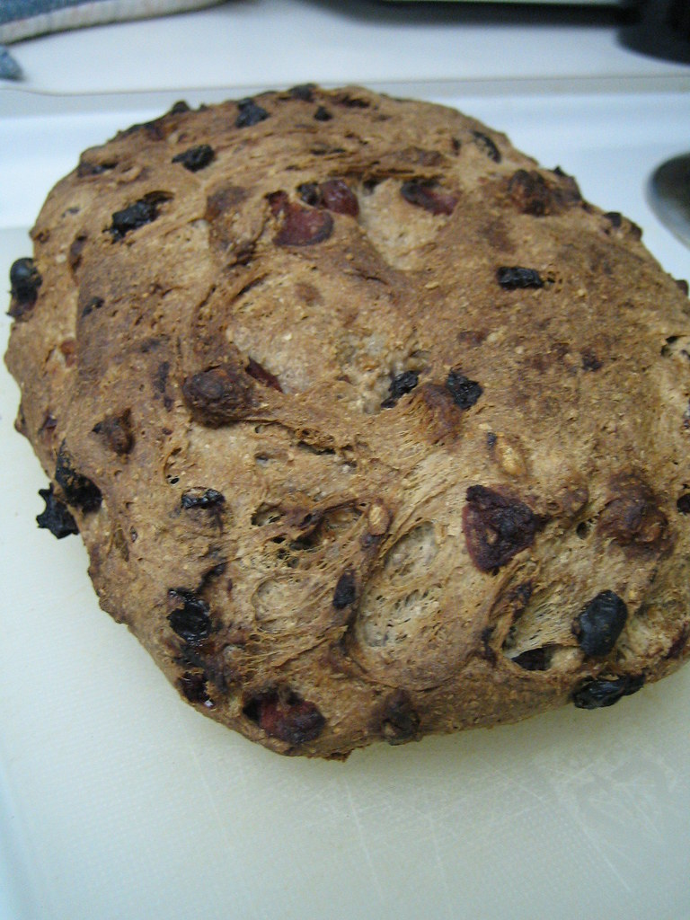 Whole Wheat Cranberry, Raisin, Currant and Walnut Bread ...
