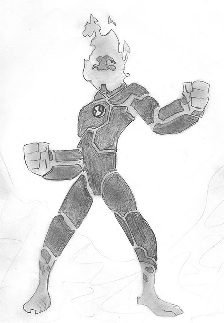 Heatblast from Ben 10  This is a sketch that I did for one  Flickr