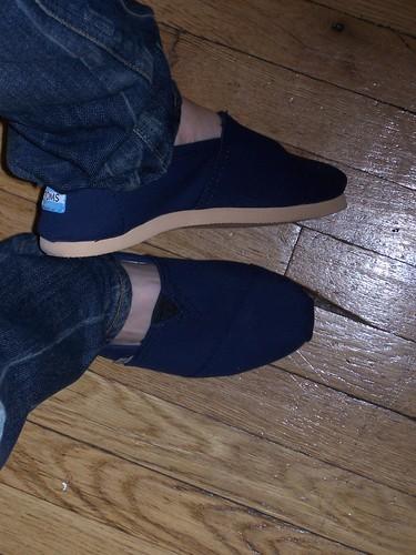 Toms Shoes Blue Glitter