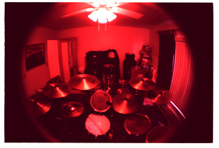 drum set and extra drums and lots of cymbals | by johnnyalive
