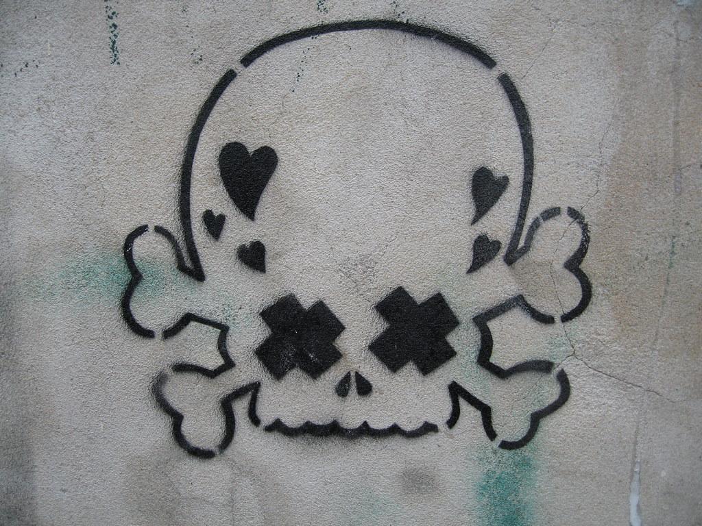 Graffiti Stencils Skull Skull and Crossbones S...