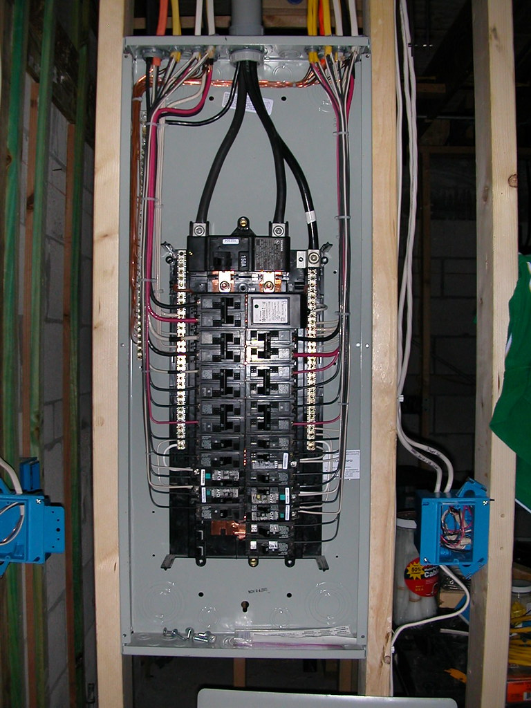 Electrical panel finished Siemens 30 40 150 ampere main