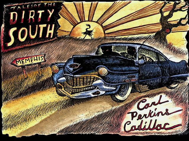 Carl Perkins Cadillac Este Es Un Dibujo Realizado Por