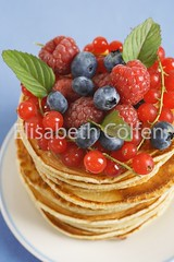 Pancakes and fresh berries | by LissiC