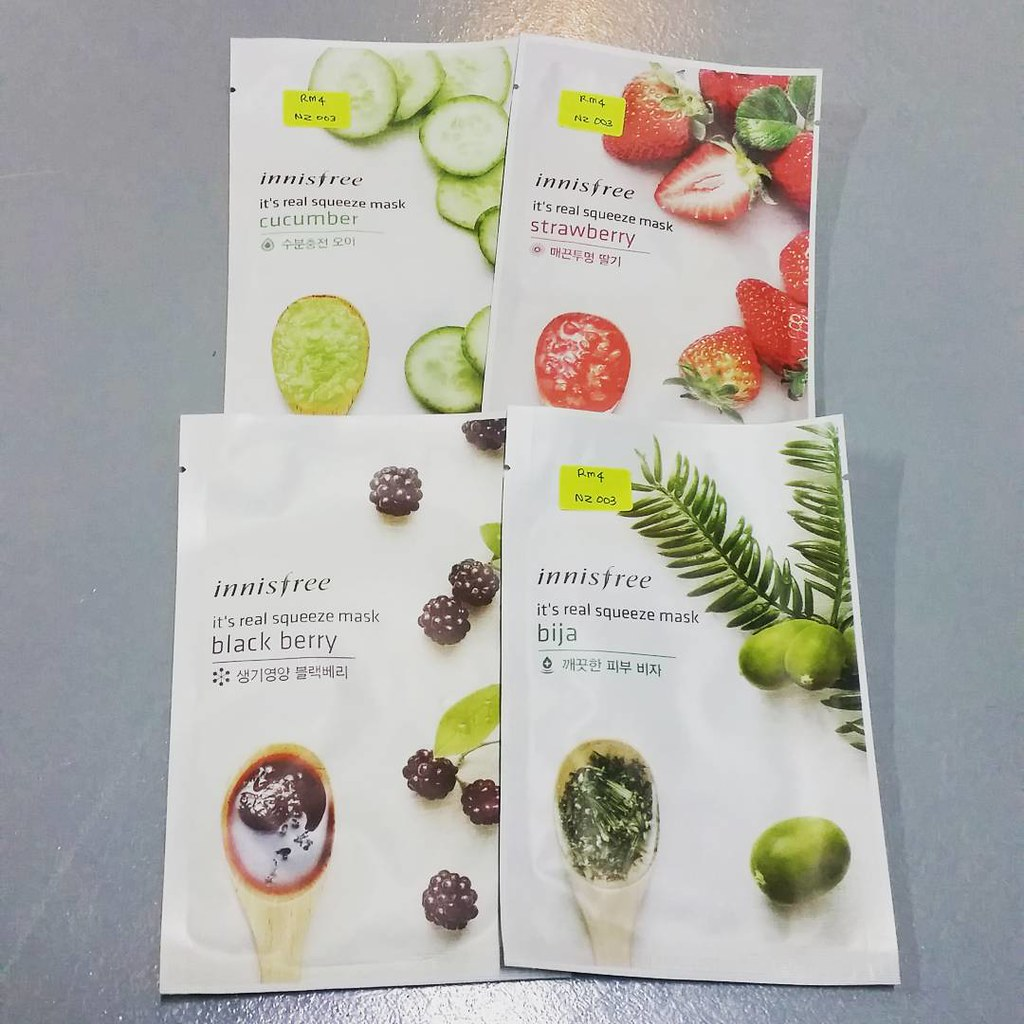 Innisfree Face Mask Bynunizaman Its Real Squeeze Ma Flickr Strawberry Harga Rm4