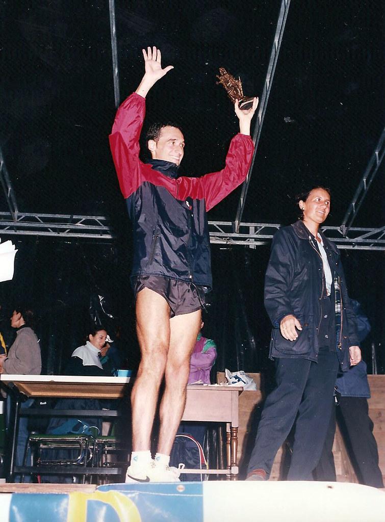 Juan Puerta en el podio de la Milla de Infiesto, 1998. Foto 071.