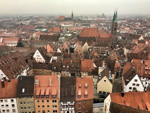 Vistas de Núremberg desde la Torre del pecado