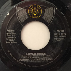 JOHNNY GUITAR WATSON:LOVER JONES(LABEL SIDE-B)