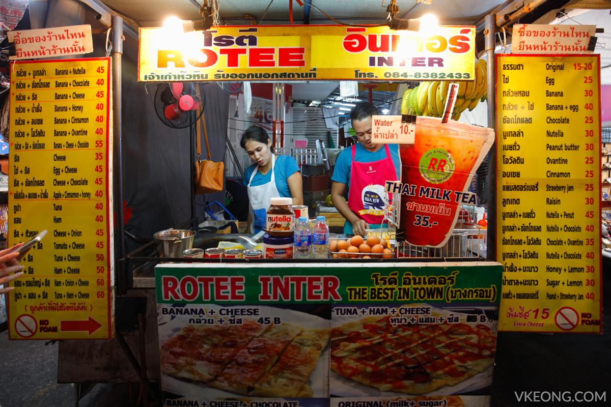 Hua Hin Night Market Rotee Inter Stall