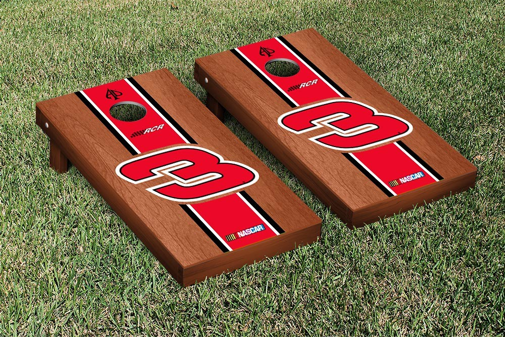 AUSTIN DILLON #3 CORNHOLE GAME SET ROSEWOOD STAINED STRIPE VERSION