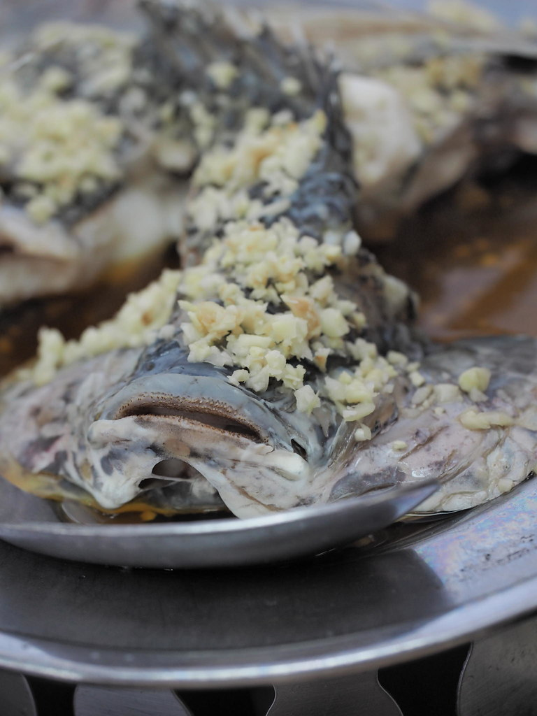 Steamed Tilapia fish in original sauce.