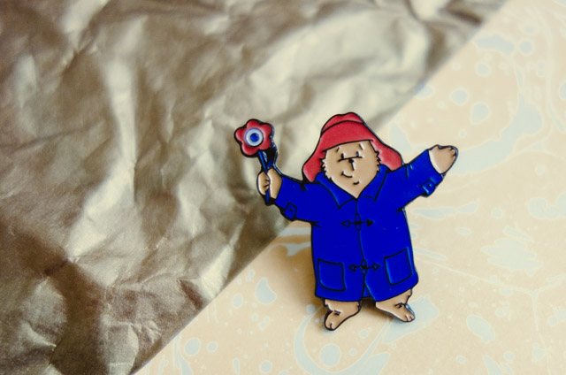 paddington bear pin