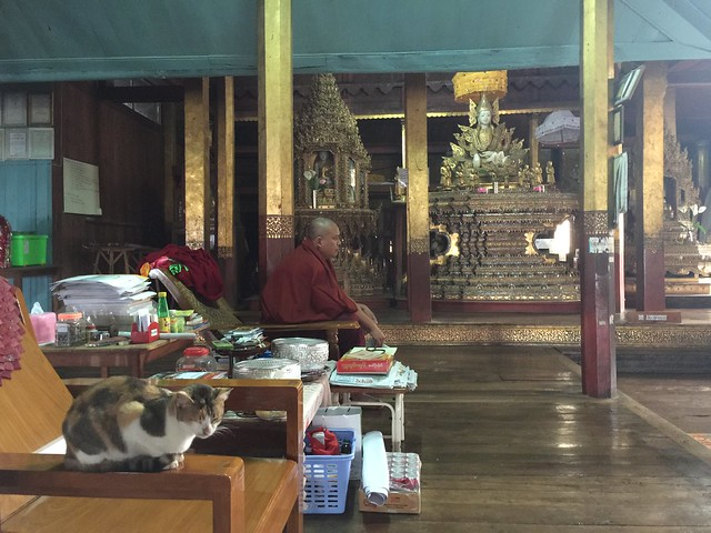 Monasterio del gato saltarín (Lago Inle, Myanmar)