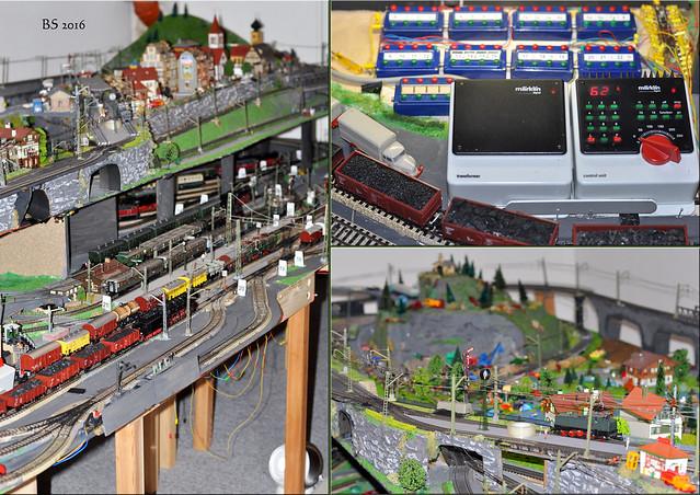 Eisenbahnanlage H0 Modellbau Putzingen Lokomotive Brücke Häuser ... Fotos: Brigitte Stolle 2016
