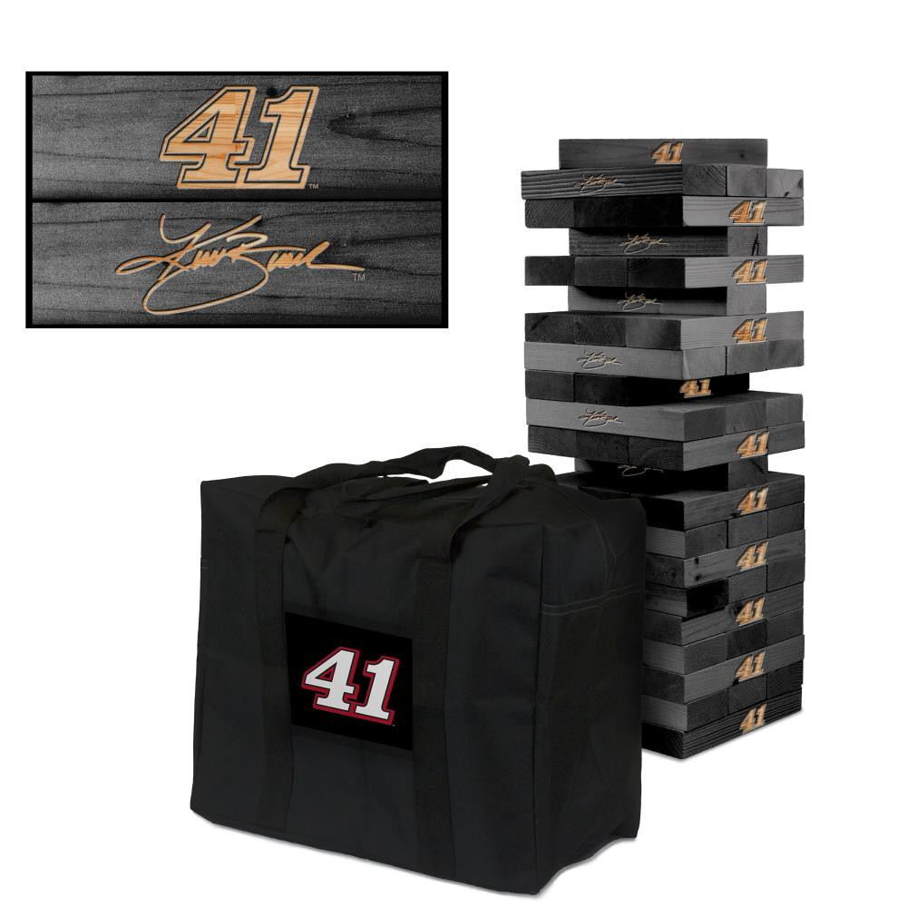 KURT BUSCH #41 Wooden Onyx Stained Tumble Tower Game (1)