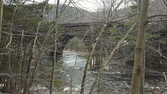 Double arch stone bridge