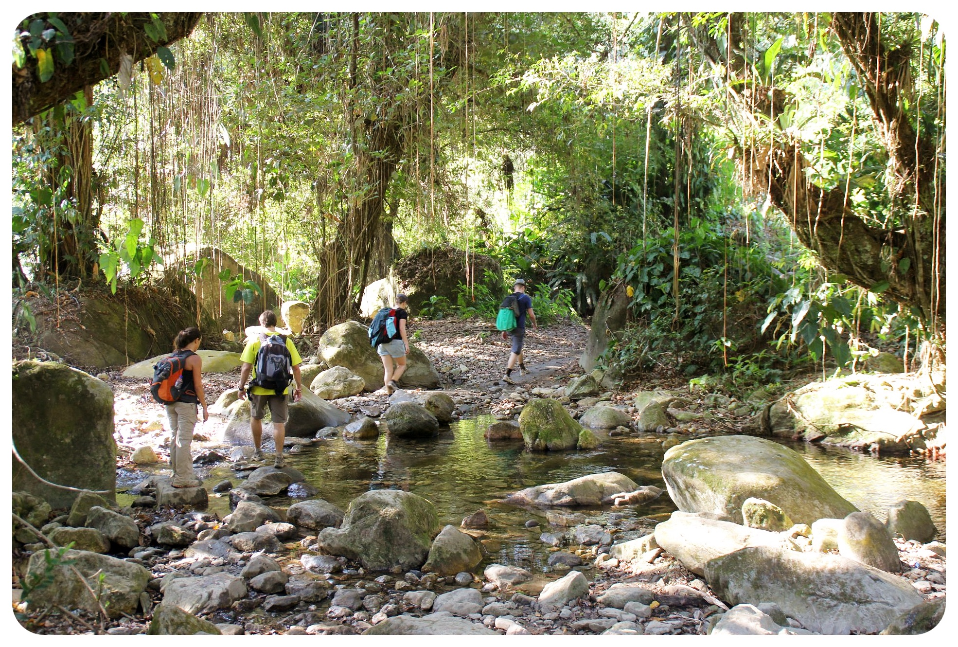 lost city trek river crossing colombia