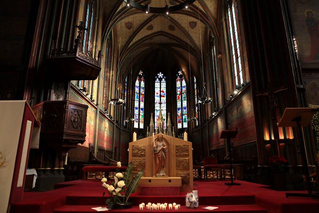 sainte Geneviève pèlerine avec les jeunes de Boulogne-Billancourt - #50ansdiocèse92