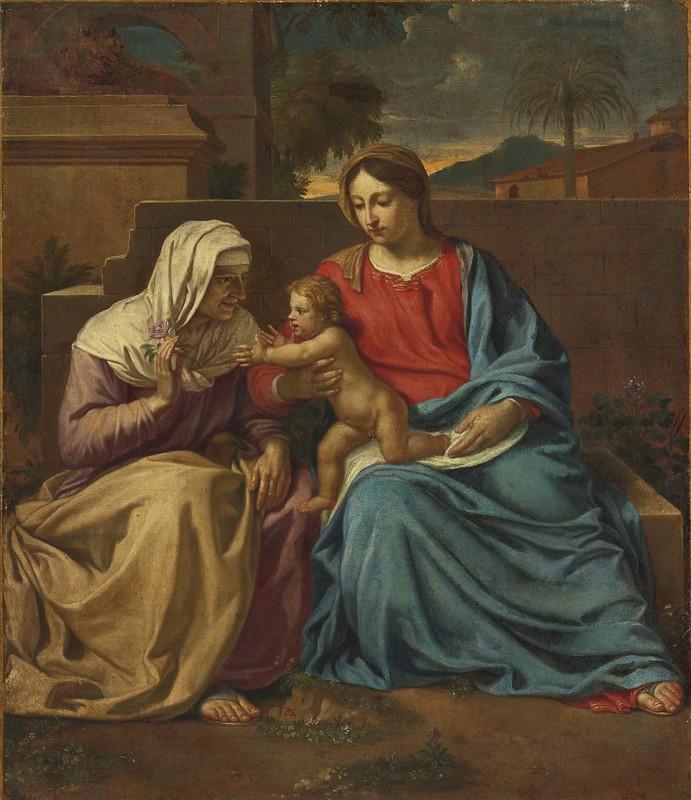 Louis Licherie - Virgin and Child with Saint Anne