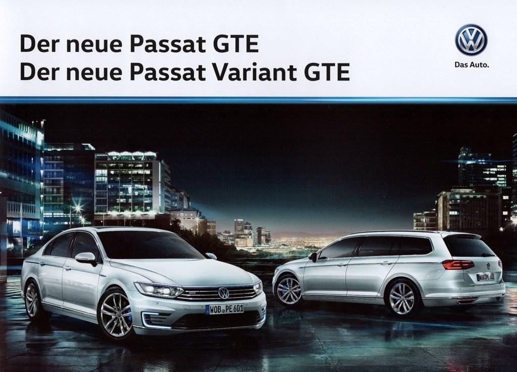Volkswagen Passat Gte 2015 Brochure Germany The Gte Is T Flickr