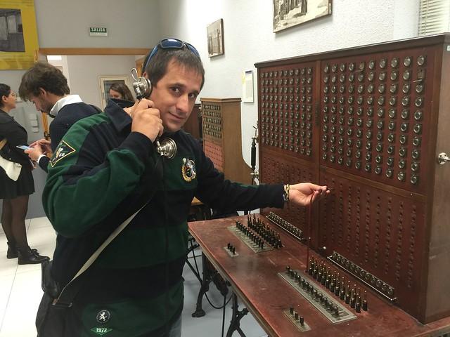 Sele en el Museo Postal y Telegráfico de Madrid