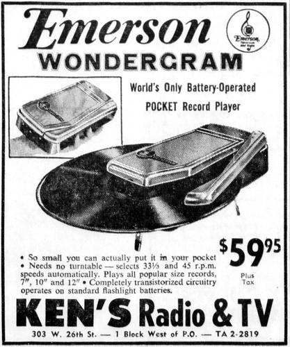 vintage newspaper advertising for the emerson wondergram p