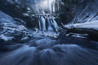 Winter's Whisper [Panther Creek Falls, WA] | by Majeed Badizadegan