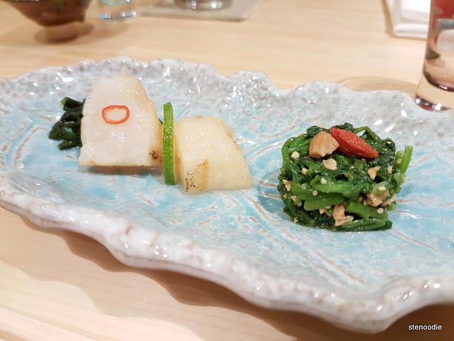 Shoushin omakase appetizer