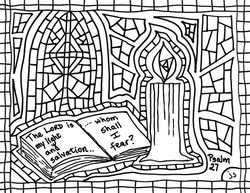 Psalm 27 coloring page
