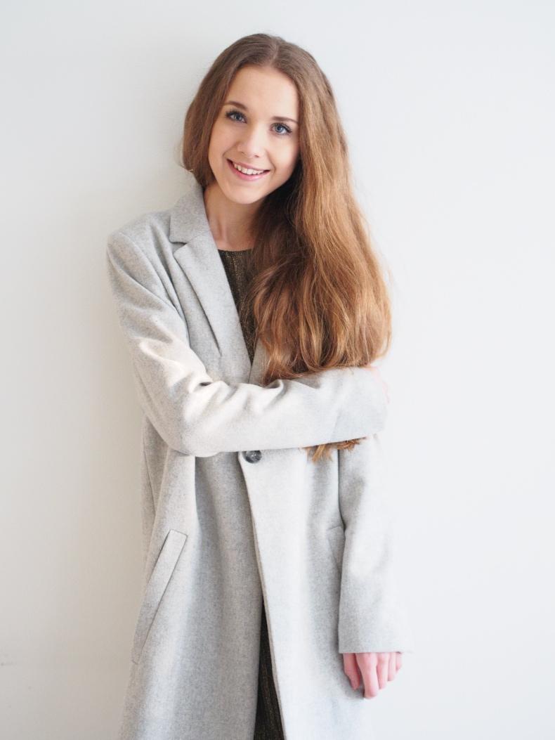 grey samsoe & samsoe coat