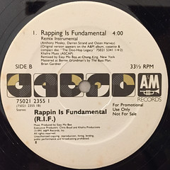 RAPPIN IS FUNDAMENTAL:RAPPING IS FUNDAMENTAL(LABEL SIDE-B)