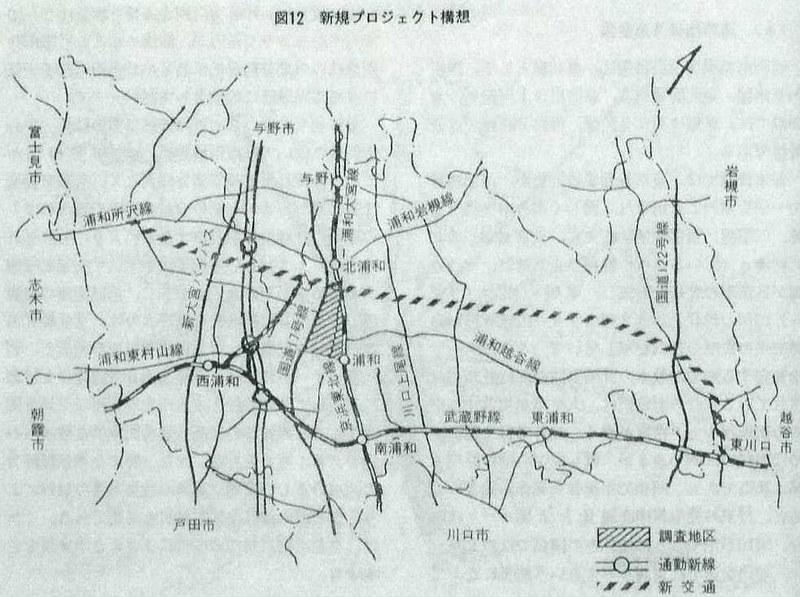 浦和市営モノレール計画線