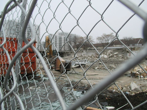 Demolition in progress, Dupont west of Lansdowne (1)