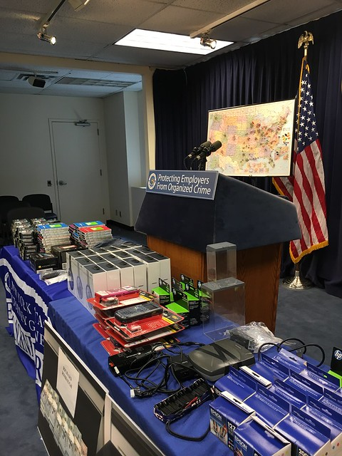 "A.G. Schneiderman Announces Take Down Of Massive Organized Theft Ring: ""Operation Sticky Fingers"""