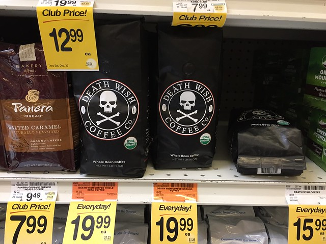 Death Wish Coffee at Safeway