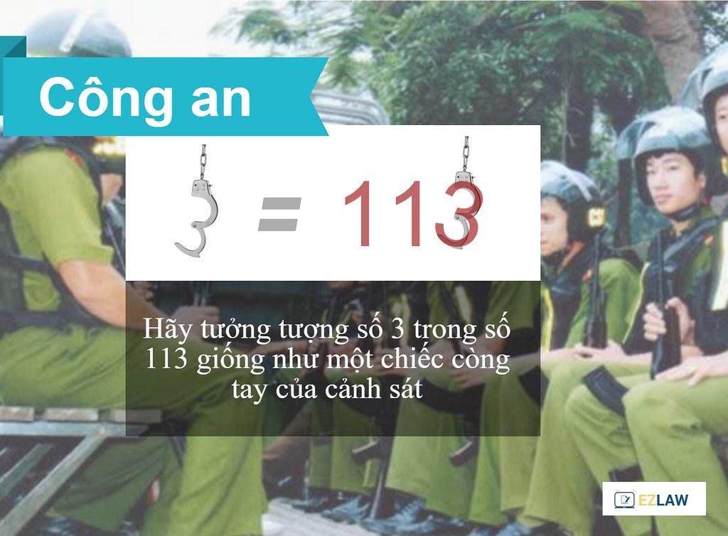 113 là số điện thoại của lực lượng cảnh sát phản ứng nhanh. Hãy gọi 113 khi  xảy ra tai nạn giao thông, các vụ việc có yếu tố tội phạm, ...