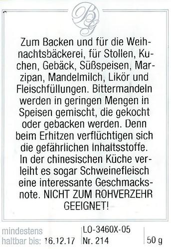 Backen Amaretto Amaretti bitter Mandel Bittermandel Blausäure giftig Tatort Küche Backen mit der Krimiautorin Brigitte Stolle Mannheim 2015
