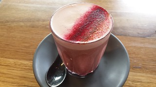 Beetroot latte at Matcha Mylkbar