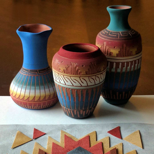 Navajo Pottery Inspiration for Quilled Tribe Series by TealCup
