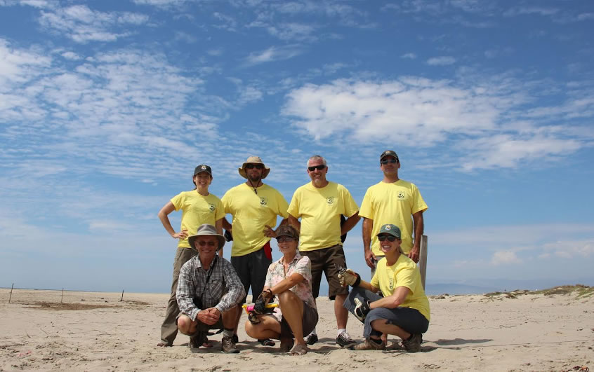 Members of the Ventura Fish and Wildlife Office staff  and partners on Coal Oil Point Preserve.