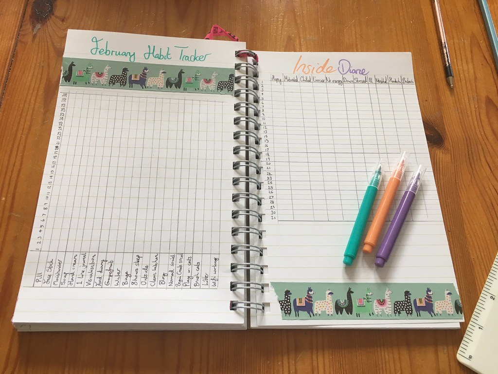 Bullet Journal - habit & mood tracker