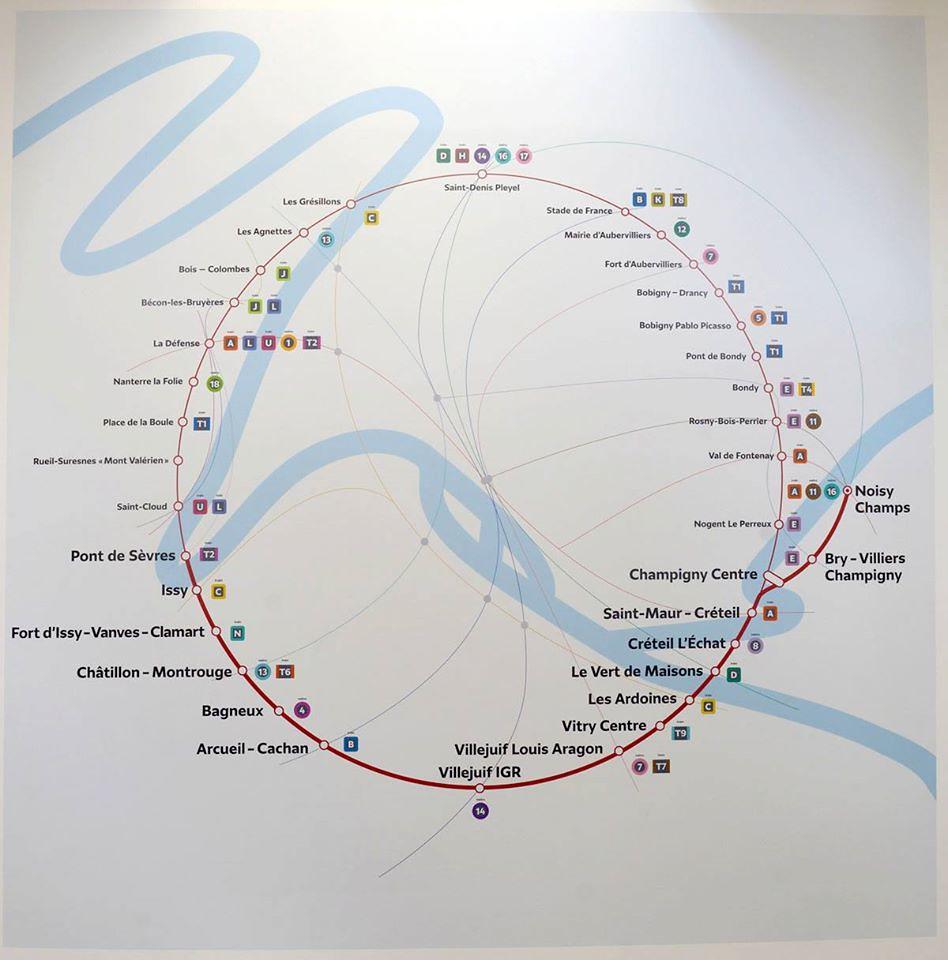 gare du nord на схеме метро парижа