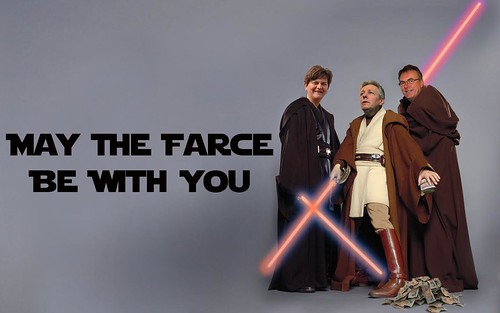 May the farce be with you these aren 39 t the droids you for Farce in english