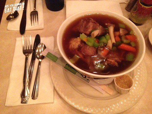 Oxtail soup at The California Hotel | by are you gonna eat that