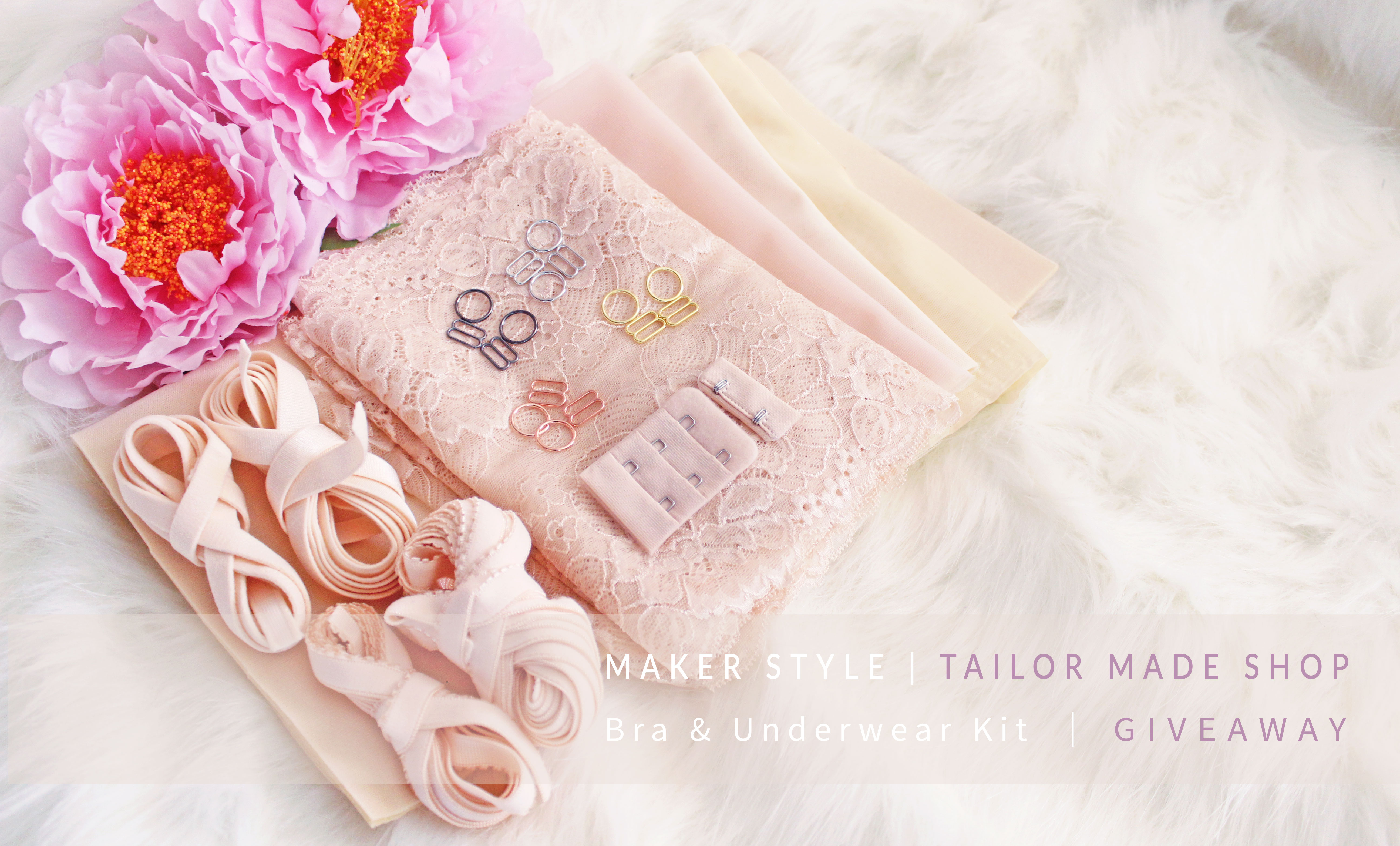 Tailor Made Shop x Maker Style Bra and Underwear Kit Giveaway